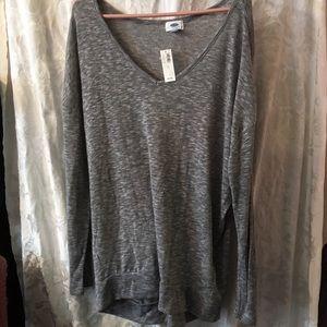 Old Navy lightweight gray sweater-ladies XL-NWT